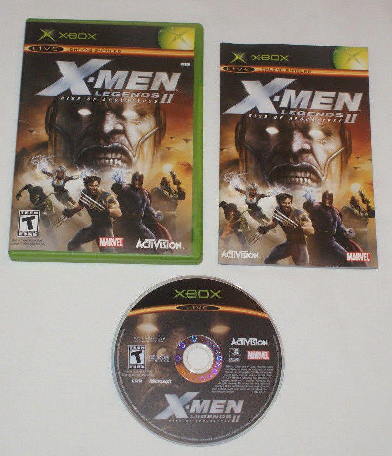 X Men Legends Ii 2 Rise Of Apocalypse For Original Xbox Complete Black Label Activision Original Xbox Xbox Activision