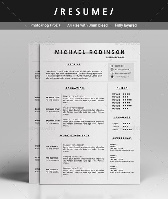 Pin By Cool Design On Minimal Resume
