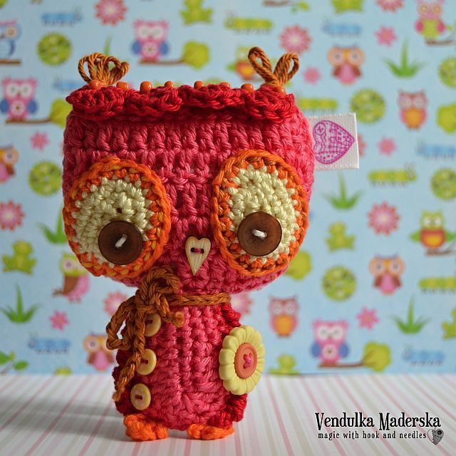 Crochet owl ornament / pendant / hanger pattern | Gorros