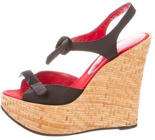 Dolce & Gabbana Nylon Wedge Sandals