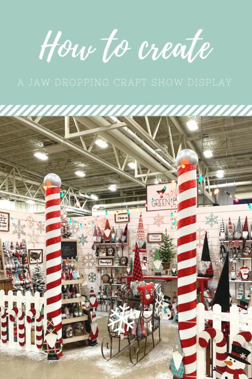 How to create a winter wonderland craft show set up