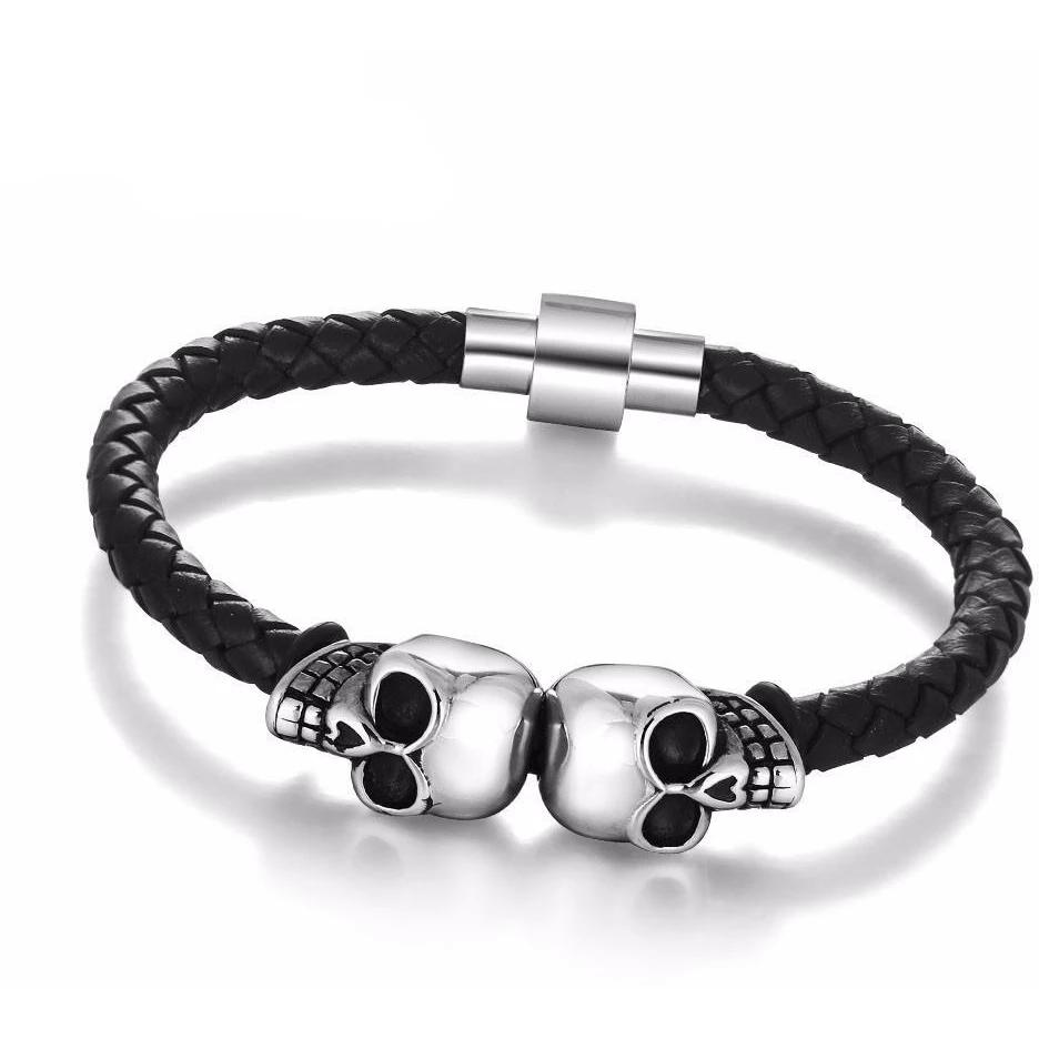 Skeleton Skull Stainless Steel Bracelet Skullflow https