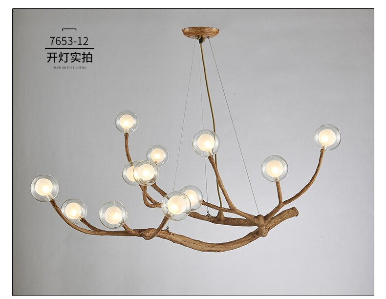 Nordic Personality Creative Bedroom Dining Room Lamp Glass Ball Molecular Branch Chandel Modern Minimalist Living Room Minimalist Living Room Modern Chandelier
