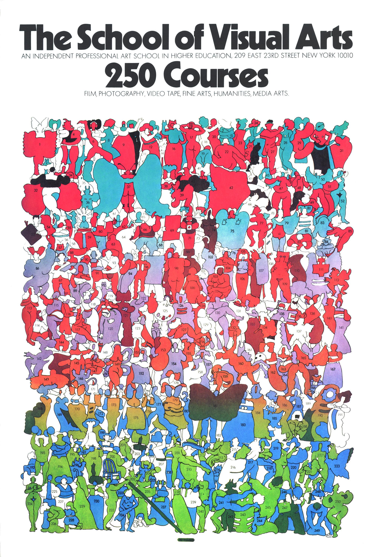 "School of Visual Arts. ""250 Courses"" subway poster. 45 x ..."