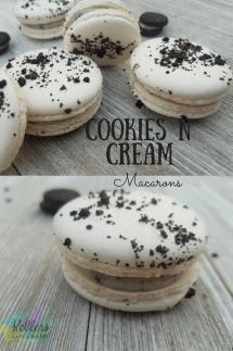 Cookies N Cream Macarons Recipe Step By Step Instructions Buttery Sweet Recipe Cookies N Cream Cookies Macaron Recipe Macaroon Recipes