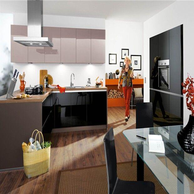 Kitchen Designs Gallery Black Gloss This Kitchen Cabinet