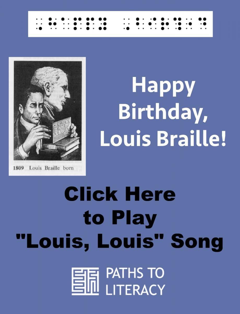 Ideas For Celebrating Louis Brailles Birthday Braille Braille