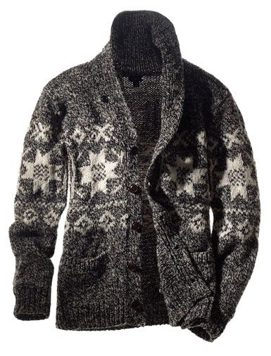 e86fcd521ab594 Mens Nordic Shawl Collar Ski Cardigan. Nothing wrong with cardigans for men!