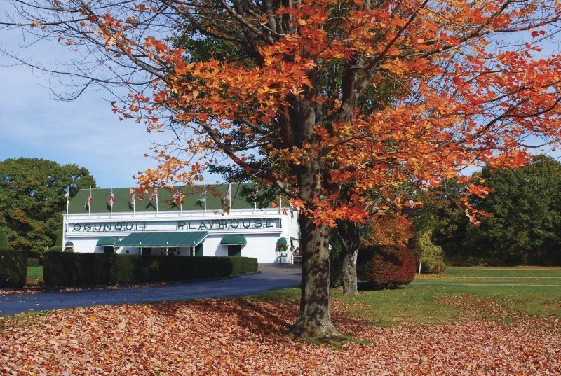 Fall at john lanes ogunquit playhouse in maine lake