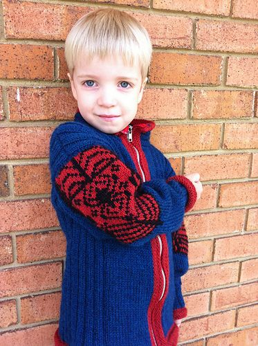 """Web Spinner"" in 2020 | Boys knitting patterns free ..."