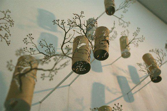 Rolele de la hârtie: reciclare creativă