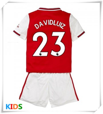 Cheap Arsenal David Luiz 23 Home Kids Football Kit 2019 20 Short Sleeve Short Pants In 2020 David Luiz Womens Shirts Kids Football Kits