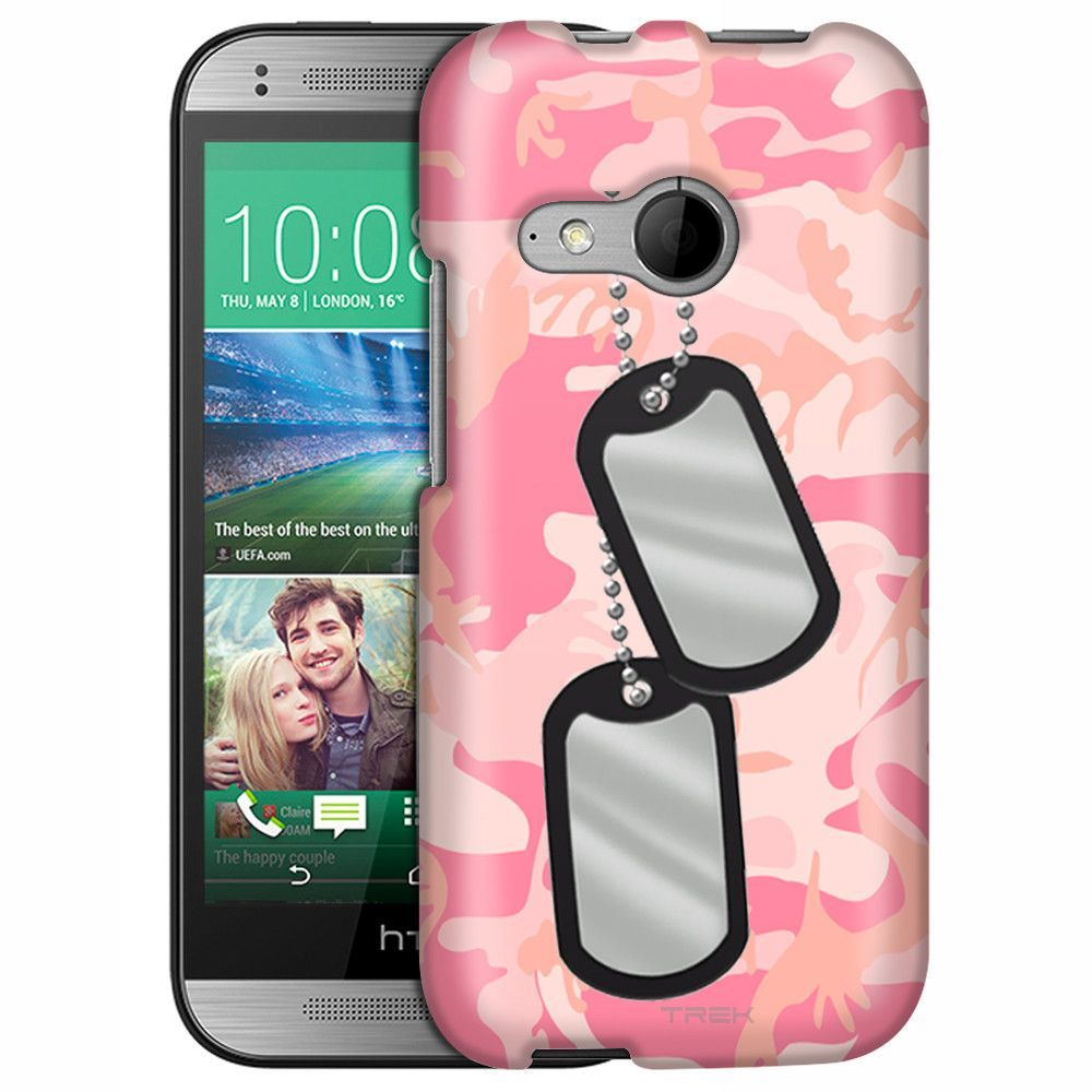 HTC One Remix Nameplate on Pink Camouflage Slim Case