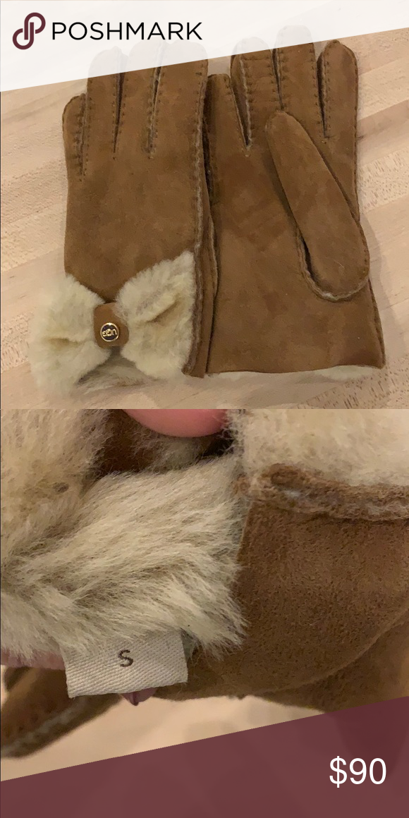 90ce9b37240 Ugh bow gloves Never worn, incredibly soft and warm UGG Accessories ...