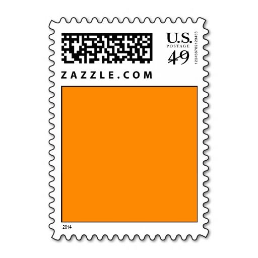 Pure Bright Orange Customized Template Blank Postage Stamp. It is really great to make each letter a special delivery! Add a unique touch to invites or cards with your own photos or text. Just click the image to learn more!