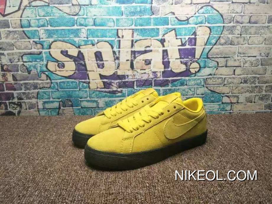 b186b189c898 Nike SB Zoom Blazer Low Umber Yellow Black Umber Yellow 864347-701 Copuon