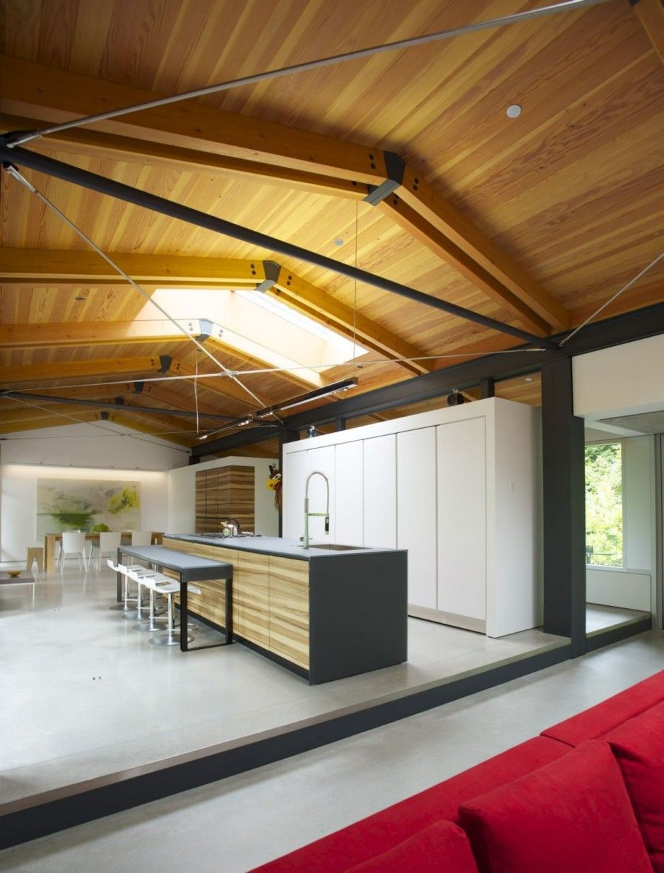 Southlands residence by dialog i love the exposed structure of this space and the