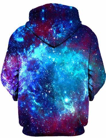 On Cue Apparel - Blue Galaxy Hoodie | Neon | Galaxy hoodie