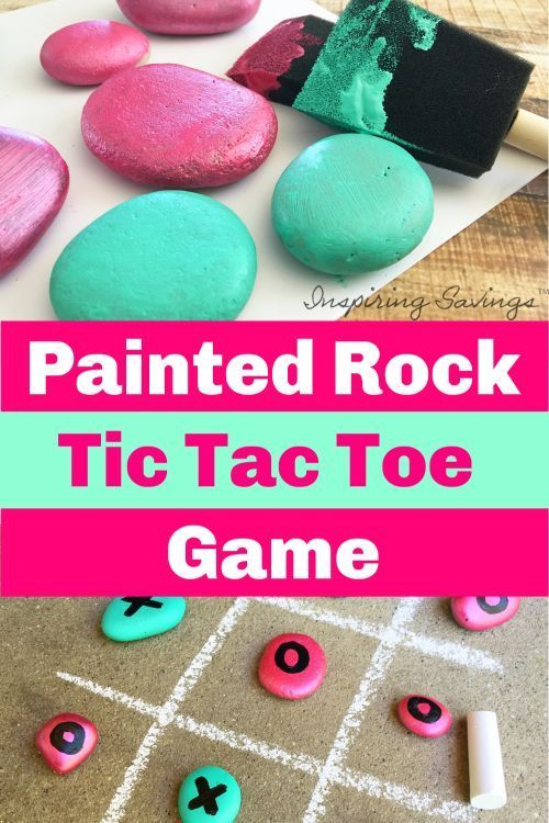 Make this DIY Painted Rock Tic Tac Toe Game for outdoor fun this summer! These are some adorably painted rocks. It is perfect for birthday parties or an activity to do with your kids on a nice summer day. Great kids craft. Time to enjoy making some painted rock art. Simple, fun and using what you will already have at home