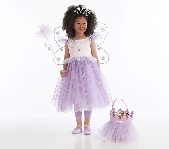 Light Up Lavender Star Magical Fairy Costume Kids Witch