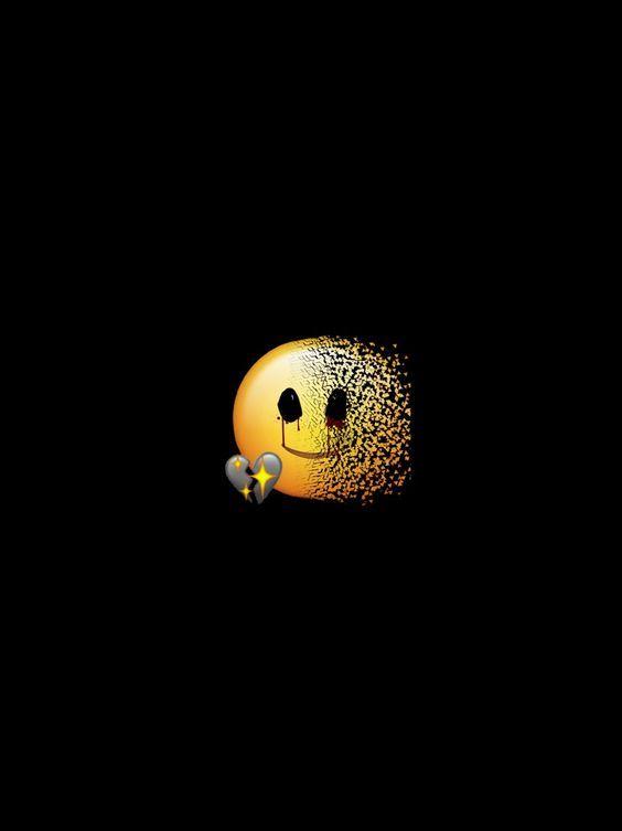 Gambar Seni Gelap Oleh Lya Pada A M B Y A R Menggambar Emoji
