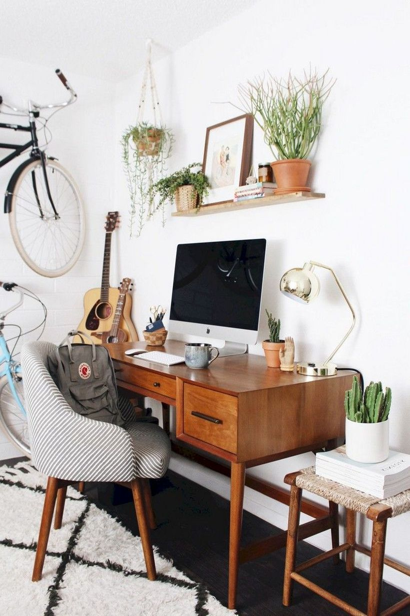 36 Affordable Home Office Decoration Ideas To Give You Chance To Do Some Business At Home Matchness Com Cozy Home Office Rustic Office Decor Modern Home Office Furniture