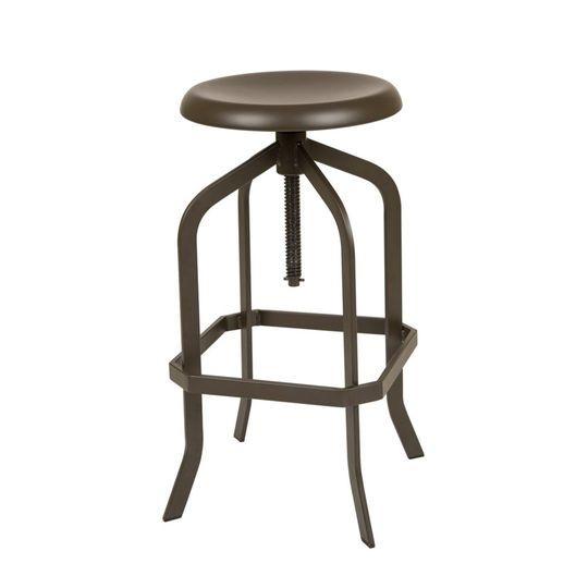 Astounding Glitzhome Pinnadel Metal Adjustable Swivel Bar Stool In Machost Co Dining Chair Design Ideas Machostcouk