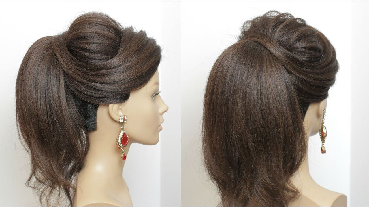 New High Ponytail Hairstyle With Puff For Long Hair Youtube High Ponytail Hairstyles Long Hair Styles Hair Styles