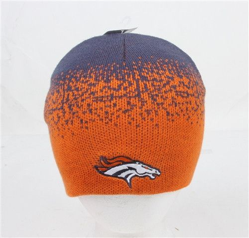 Denver Broncos Splatter NFL Knit Cap Beanie