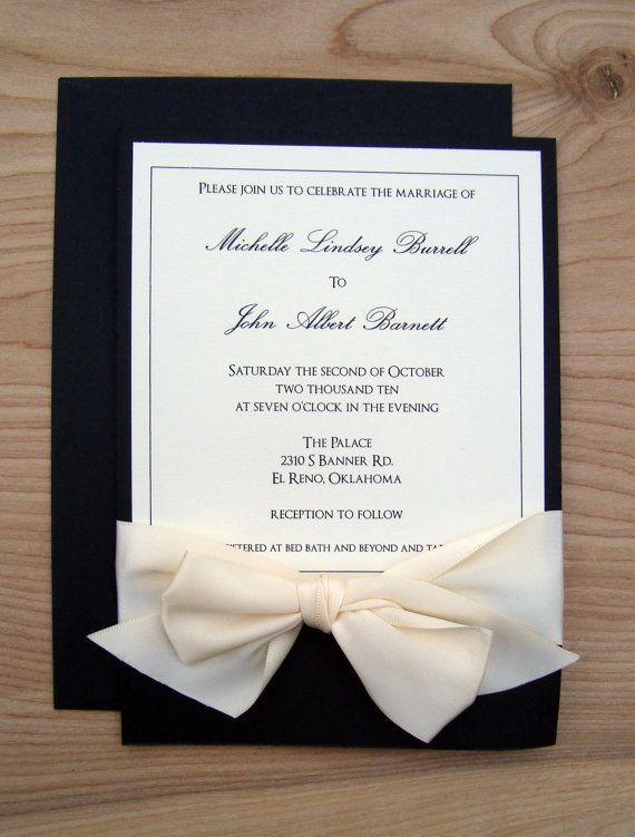 Elegant Black And White Ivory Classic Wedding By
