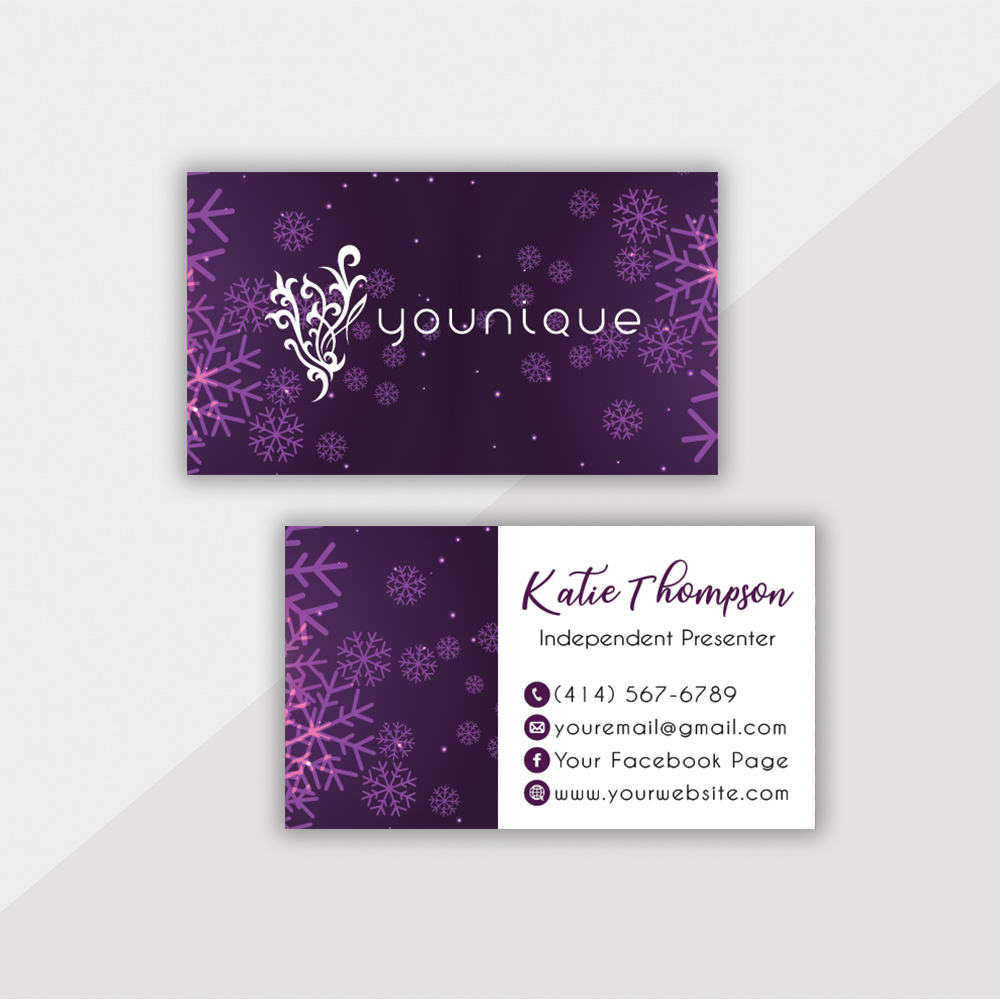 Personalized Younique Business Card, Younique Business