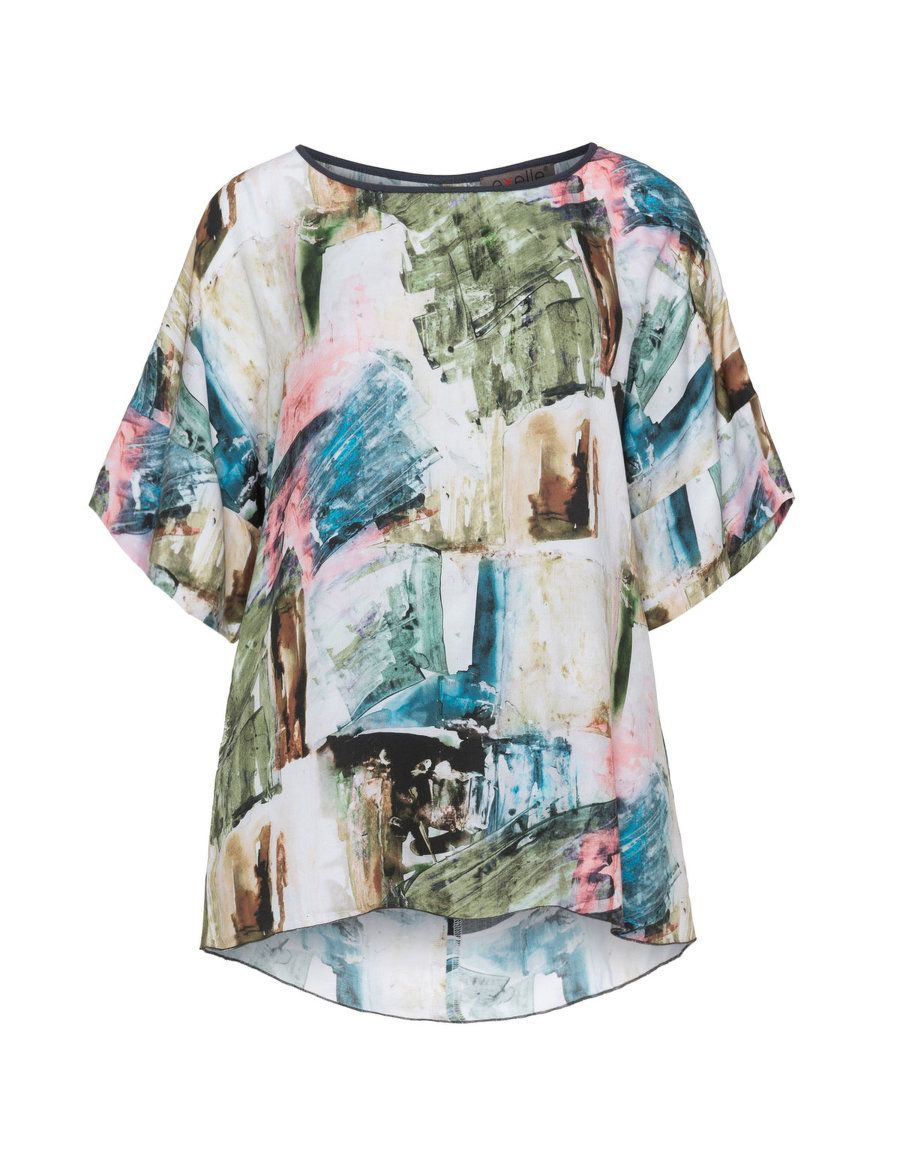 427b8f03f25 Printed satin oversized top by Exelle. Shop now