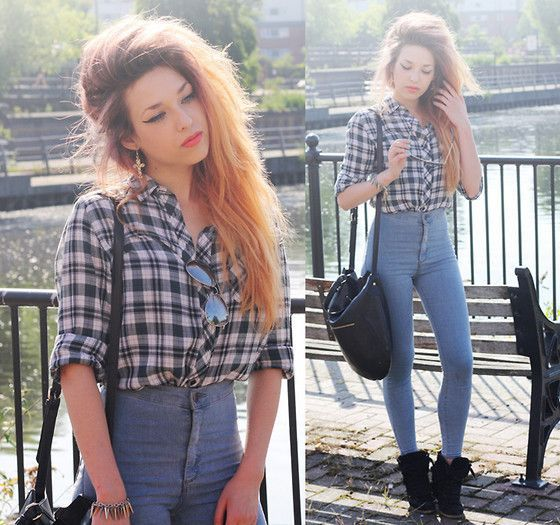 20 Style Tips On How To Wear High Waisted Jeans | Pants, Jean ...