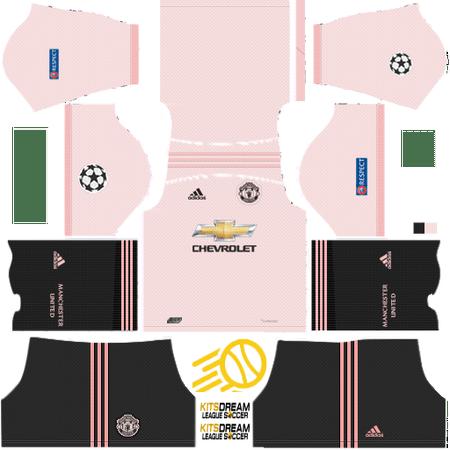 Uniformes Manchester United 2019 2018 Dream League Soccer Camiseta Manchester United Uniformes Soccer Manchester United