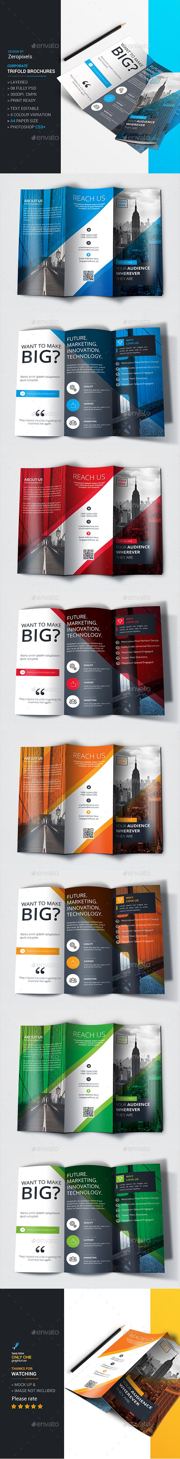 Trifold Brochure Template PSD. Download here: http://graphicriver ...