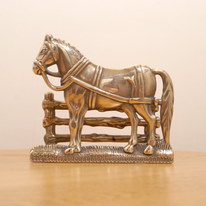 Letter rack or business card holder vintage brass horse design brass horse design letter rack or business card holder vintage by ukamobile colourmoves Choice Image