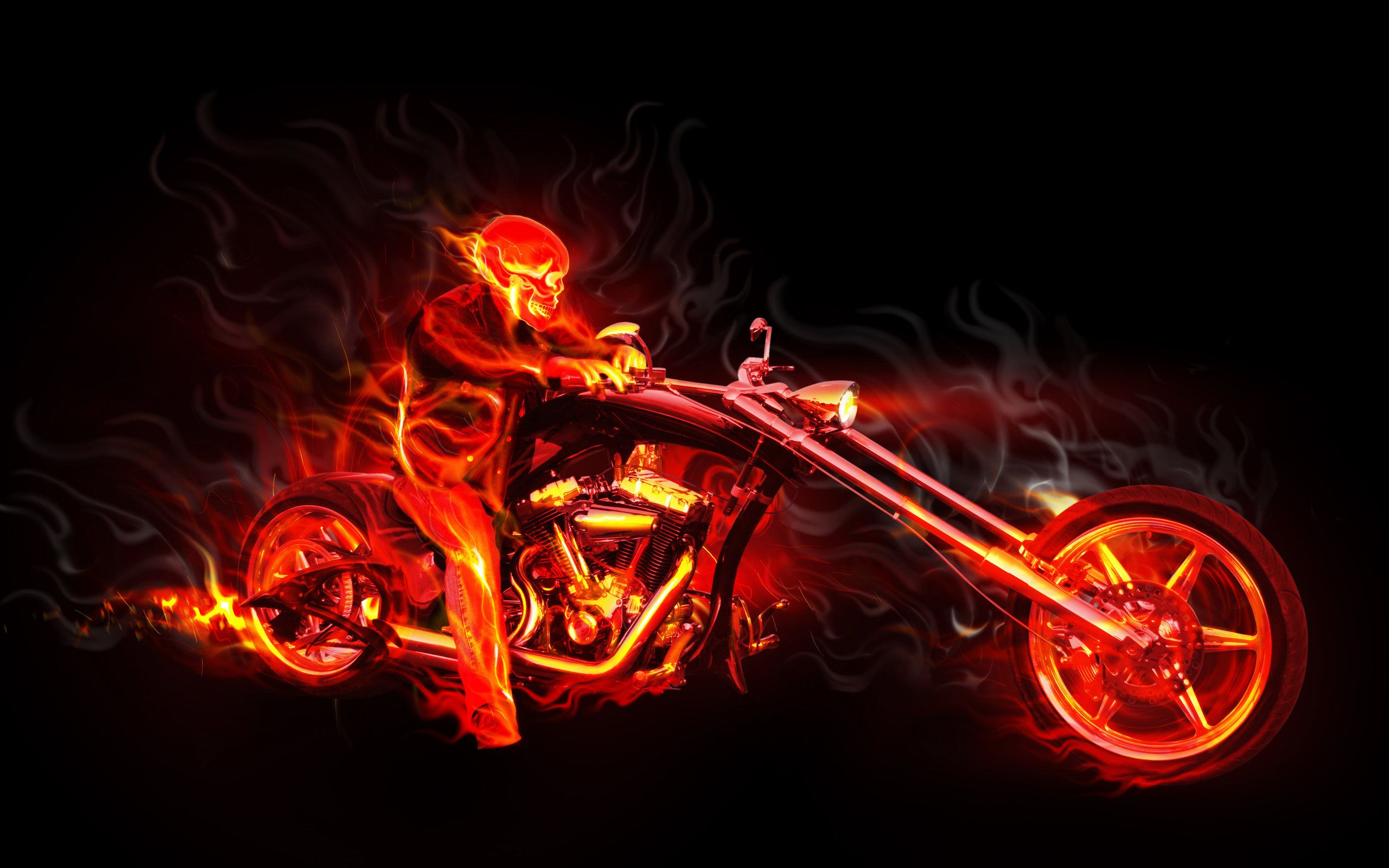 Fire and ice fractal abstract wallpaper hd wallpapers - High Quality Hd 3d Wallpaper Fire Harley Man Abstract Photo