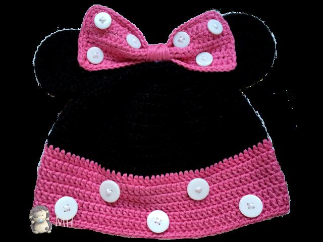 MADRES HIPERACTIVAS: Gorro Minnie Mouse a Crochet, Patrón Gratis ...