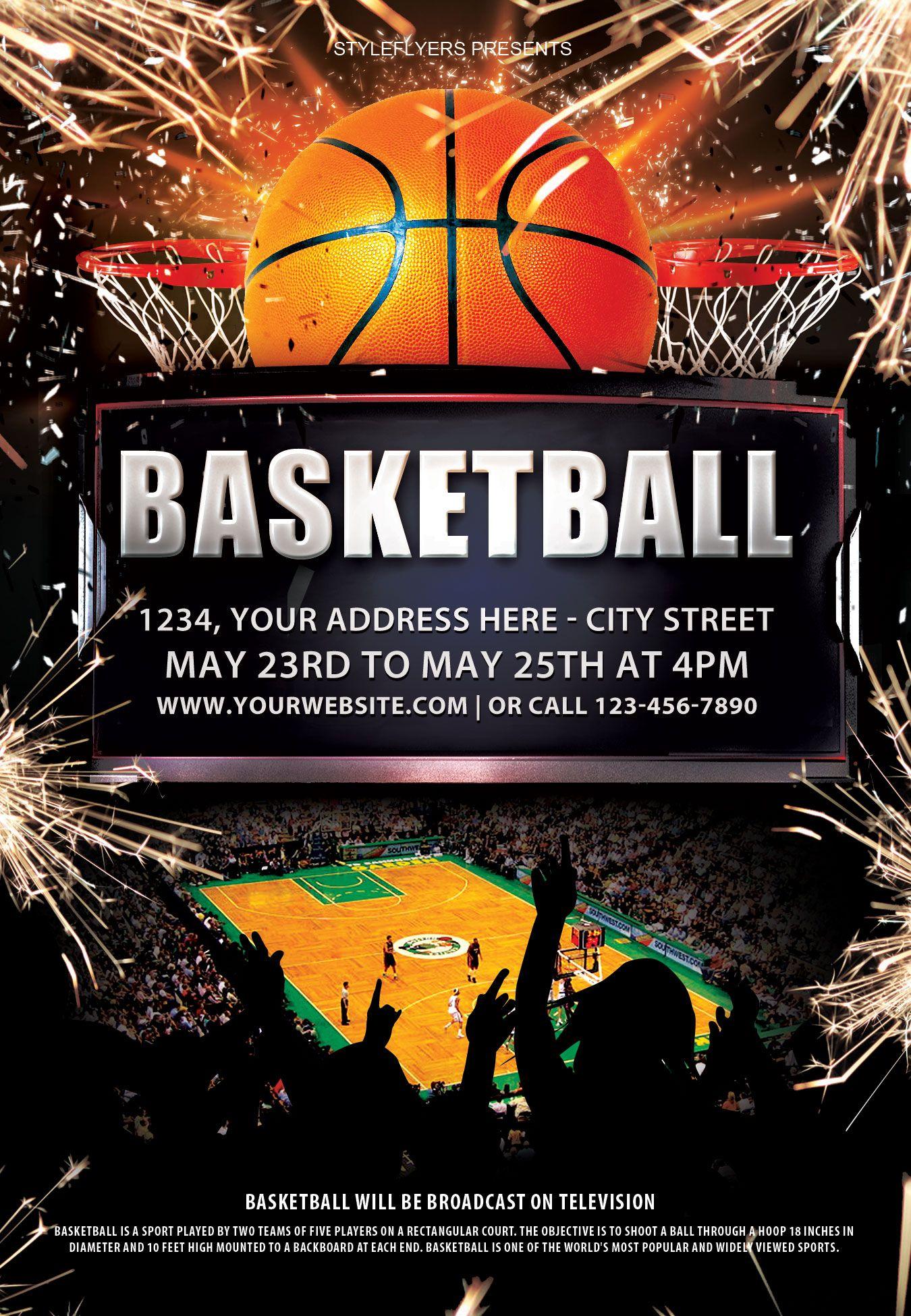 Basketball PSD Flyer Template  Design Inspiration  Cover