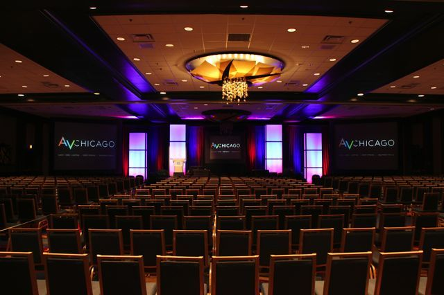 live audio  video  u0026 lighting in a large conference general session  av chic u2026