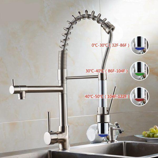 brushed nickel kitchen sink single