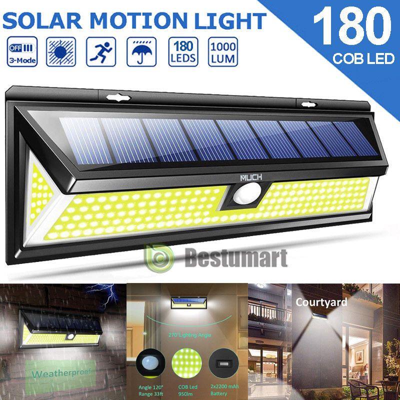 Outdoor 118 LED Solar Powered Motion Sensor Wall Security Light Lamp Garden UK