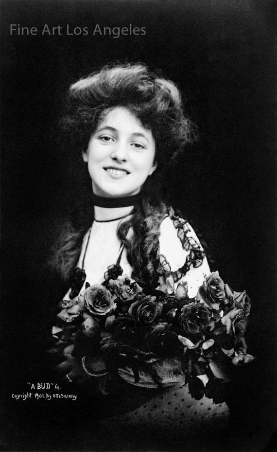 "Otto Sarony Photo, Evelyn Nesbit, ""A Bud #4"", 1901"