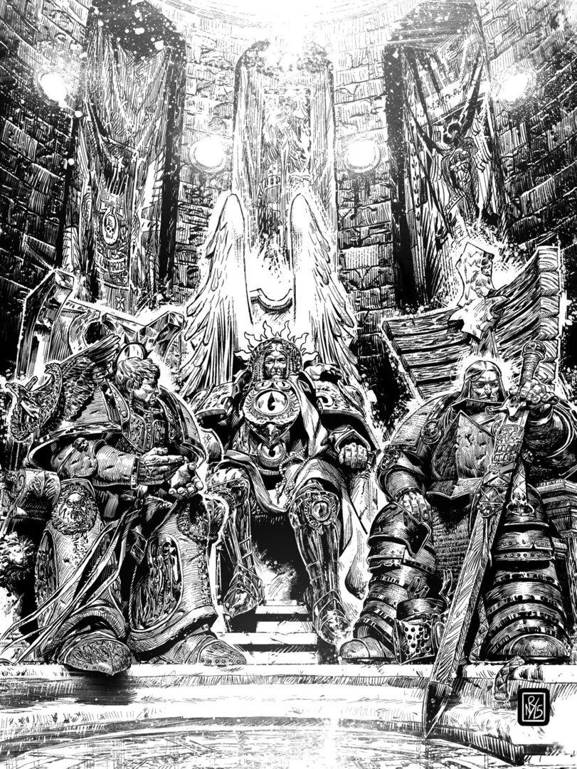 Warhammer 40000,warhammer40000, warhammer40k, warhammer 40k, ваха, сорокотысячник,фэндомы,Primarchs,Lion El'Jonson,Roboute Guilliman,sanguinius,Horus Heresy,Ересь Хоруса,в комментах ещё