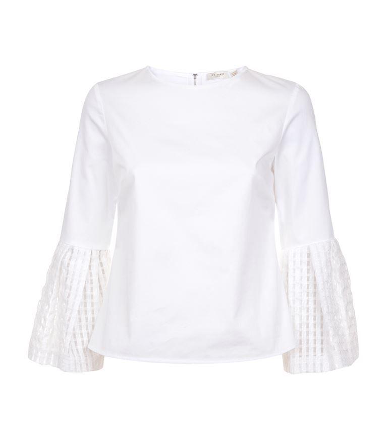 a37d726e9b425 TED BAKER Gailee Bell Sleeve Top.  tedbaker  cloth