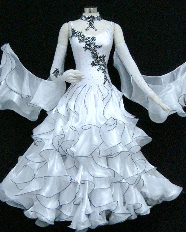 c18f5b91d616 White Spandex & Chiffon Dress SZ-HYJ-B1112 in 2019 | Latin dress and ...