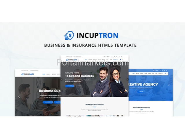 Incuptorn Business Insurance Html5 Template By Zozothemes Business Insurance Html5 Templates Digital