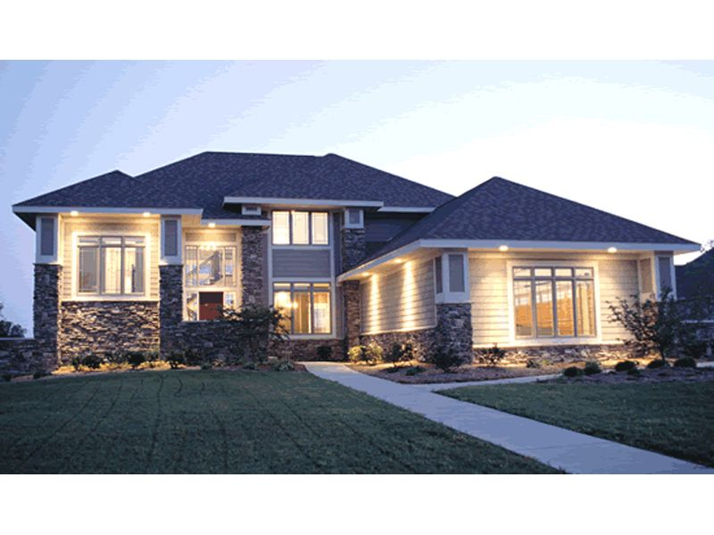 Taylor Falls Prairie Style Home Front of Home from ...