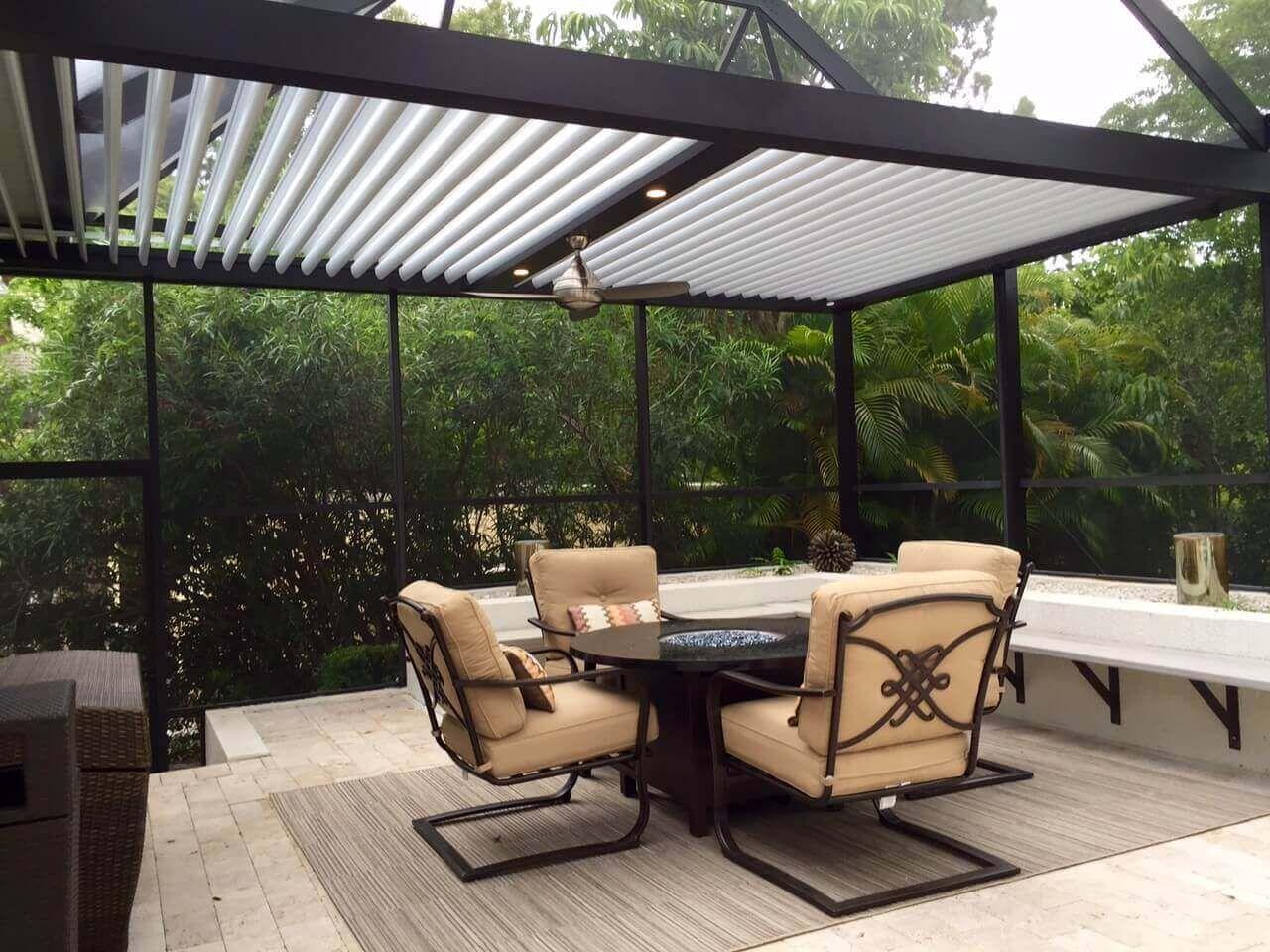 Adjustable Louvered Roof Patio gazebo, Aluminum pergola
