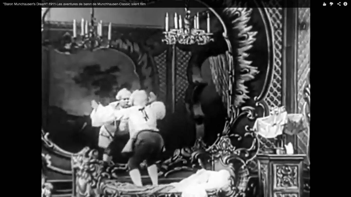 """Fotograma de """"El sueño del Barón de Munchausen"""", filme mudo de 1911."""